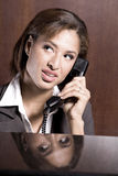 Woman calling Royalty Free Stock Photography