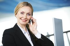 Woman calling Stock Photography