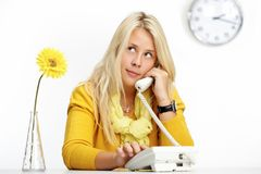Woman calling Royalty Free Stock Images