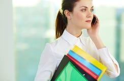 Woman calling Stock Photos