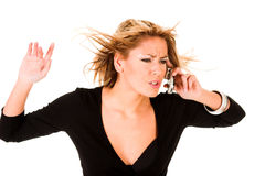 Woman Calling By Mobile Phone Royalty Free Stock Images
