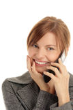 Woman calling by cellular phone Royalty Free Stock Photos