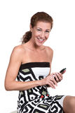 Woman calling Royalty Free Stock Image