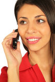 Woman Calling On A Cell Phone Royalty Free Stock Photography