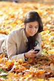 Woman calling by phone Royalty Free Stock Photo