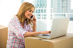 Free Woman Calling Someone Stock Photography - 65387322