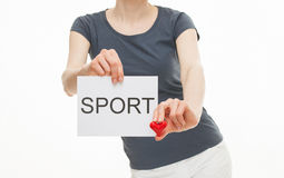 Woman calling to healthy lifestyle Stock Photography