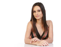 Woman with calm expression. Young woman with calm expression Royalty Free Stock Photo