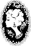 Woman cameo vintage profile Royalty Free Stock Image