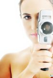 Woman camera Royalty Free Stock Image