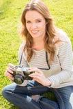 Woman camera Royalty Free Stock Photo