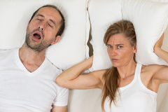 Woman Can Not Sleep Royalty Free Stock Photo