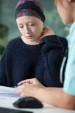 Woman with cancer during medical appointment Royalty Free Stock Photography