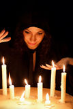 Woman with candles Royalty Free Stock Image