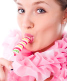 Woman with candy Stock Image