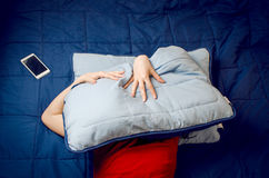 Woman Cant Sleep Royalty Free Stock Photo