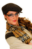 Woman with cap Stock Images