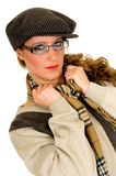 Woman with cap Royalty Free Stock Image