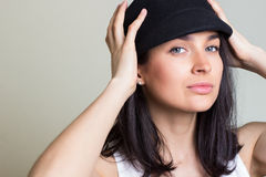 The woman in a cap Royalty Free Stock Image