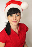Woman in the cap Santa Stock Photography