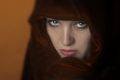 Woman In Cape Royalty Free Stock Images