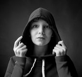 Woman in  cape Stock Images