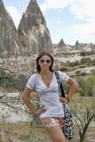 Woman  at the Cappadocia. Royalty Free Stock Image