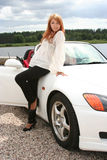 Woman and car Stock Image