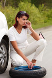 Woman and a car Stock Photo
