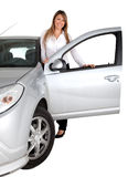 Woman with a car Royalty Free Stock Photography