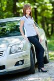 Woman with car Royalty Free Stock Photos