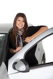 Woman with a car Royalty Free Stock Photos
