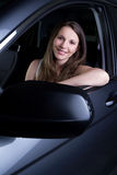 Woman in Car Royalty Free Stock Image