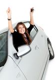 Woman with a car Stock Photo