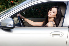 Woman at the car Royalty Free Stock Photos