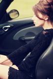 Woman in the car Royalty Free Stock Photos