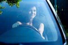Woman in car Stock Photos