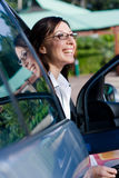 Woman and car Royalty Free Stock Image
