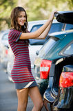 Woman By Car Royalty Free Stock Photos