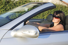 Woman in a car Royalty Free Stock Photography