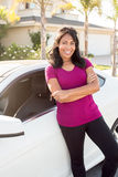 Woman and car Stock Photo