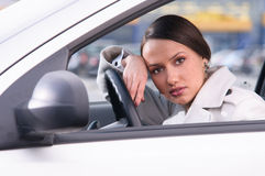 Woman in car Stock Photos