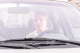 Woman in a car Royalty Free Stock Image
