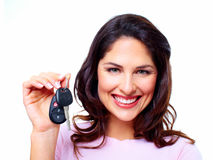 Woman with a car keys. Royalty Free Stock Photos