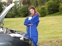 Woman car mechanic Stock Photography