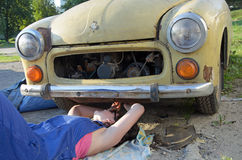 Woman car mechanic Stock Image