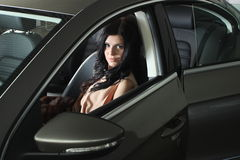 Woman in car Royalty Free Stock Photography