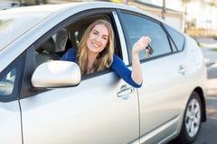 Woman in car Stock Image
