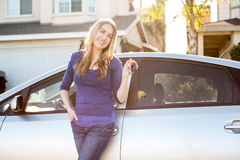 Woman car Royalty Free Stock Photos