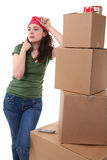 Woman and Cargo Stock Photography